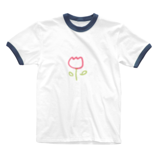 rabi1255のチューリップ Ringer T-shirts