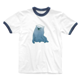 mugioのあの犬/FUJIYAMA Ringer T-shirts