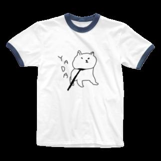 【CRAYON LAND】のやだやだ犬 Ringer T-shirts