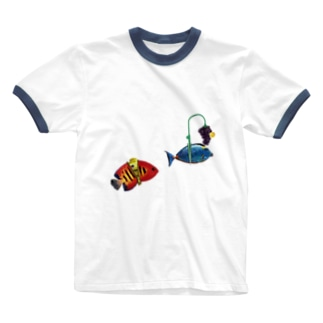 fishes Ringer T-shirts