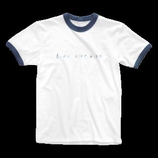 shuuuのblue blue blue Ringer T-shirts