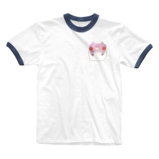 いつでもどこでもぶぅちゃんと。 Ringer T-shirts