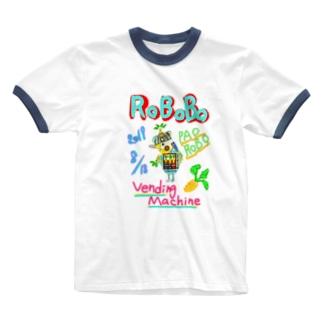ROBOBO🤖「パオロボ」 Ringer T-shirts
