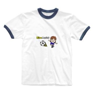青ユニDEナイスアシスト Ringer T-shirts