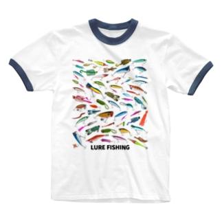 ルアー_2 Ringer T-shirts
