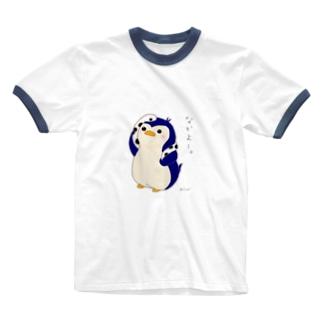 ペンギンとチンアナゴ Ringer T-shirts