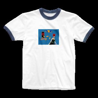 濁点スーパーセールのABC Ringer T-shirts