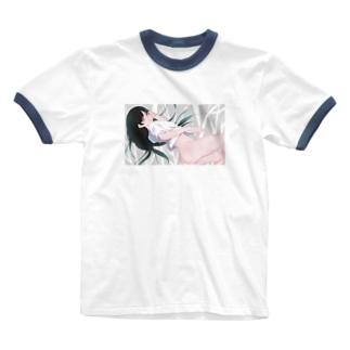 おしりちゃんT Ringer T-shirts