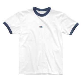 みけきちあじ Ringer T-shirts