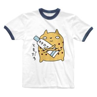 びんかんはだねこ ともだち Ringer T-shirts
