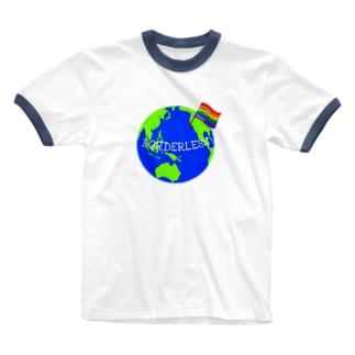 BORDERLESS Ringer T-shirts