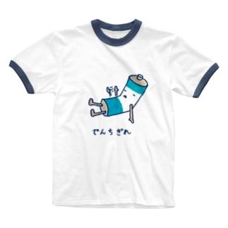 乾電池くん Ringer T-shirts