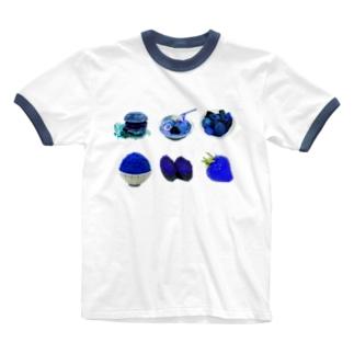ブルーダイエット(ブルーグラス仕様) Ringer T-shirts