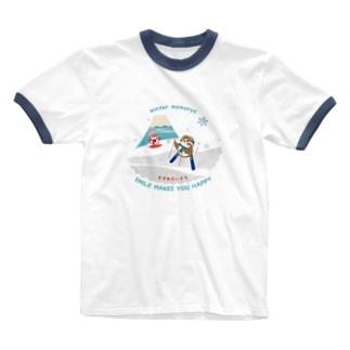Hello! すずめだいきち Ringer T-shirts