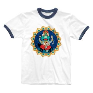 曼荼羅屋のガターシャ様 Ringer T-shirts