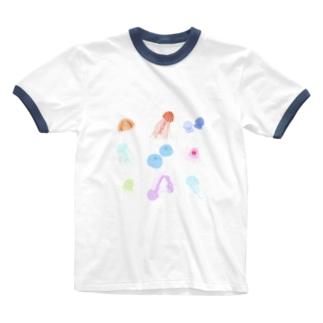 くらげ Ringer T-shirts