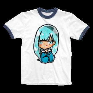 Shiina☻のブルー💙 Ringer T-shirts