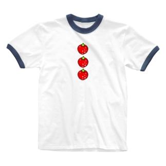 いちごみっつ Ringer T-shirts