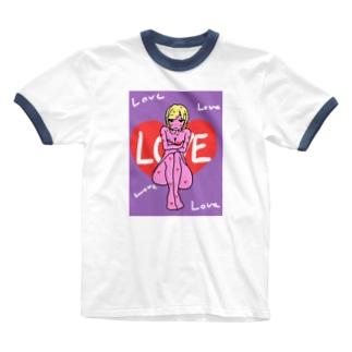 ラブリーガール Ringer T-shirts