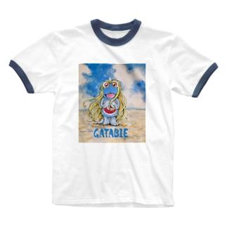 ガタビエ様 Ringer T-shirts