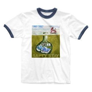 巣穴のガタゴロウ SAFTY STAY Ringer T-shirts