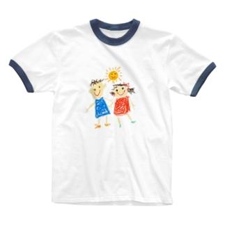 3歳児の思い出のシャツ Ringer T-shirts