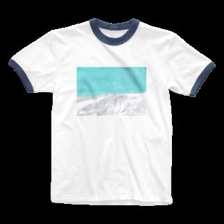 並木千香の雪山 Ringer T-shirts