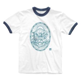AMABIE 碧 Ringer T-shirts
