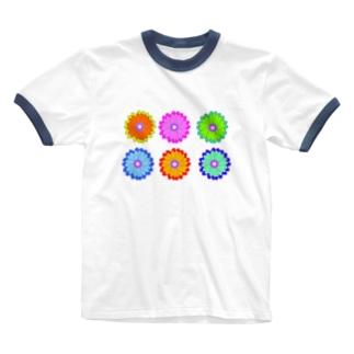 からふるはな Ringer T-shirts