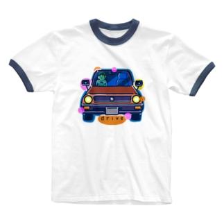 drive ドライブ 124 Ringer T-shirts