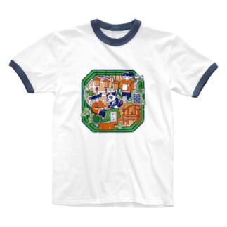 ハオチー熊猫茶点! Ringer T-shirts