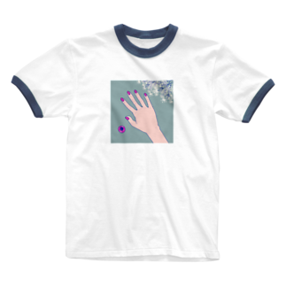 kirin.boutiqueのピンクのネイル💅 Ringer T-shirts