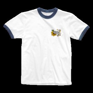 _pallet_のyellow goods Ringer T-shirts