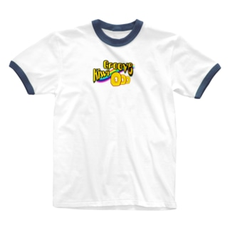 虹色のキウイ・グルーヴ Ringer T-shirts
