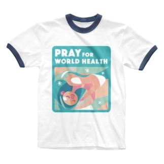 眠り・世界の健康 Ringer T-shirts