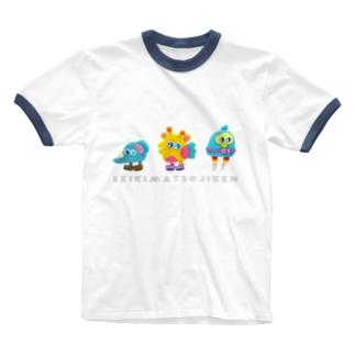しゅうごう Ringer T-shirts