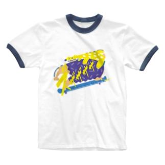 ズザザザザ Ringer T-shirts