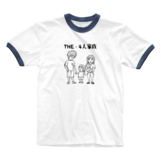 THE・4人家族 Ringer T-shirts