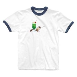 「クリームソーダはいかが?」-シマリスより- Ringer T-shirts