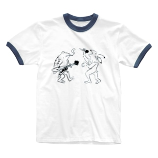 バンドはじめました Ringer T-shirts