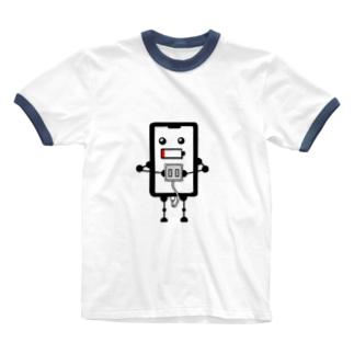 充電をねだるスマホ Ringer T-shirts