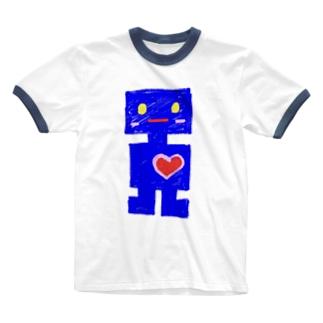 hitomi miyashitaのロボット Ringer T-shirts