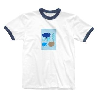 ブルースクリーン Ringer T-shirts