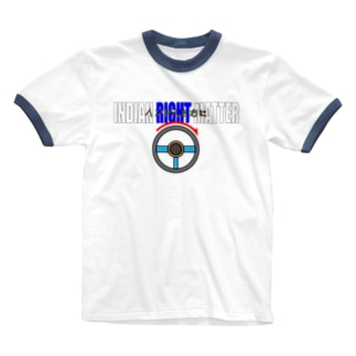 INDIAN RIGHT MATTER インド人を右に Ringer T-shirts
