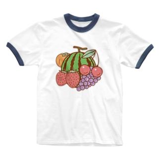 フルーツ盛合わせ Ringer T-shirts