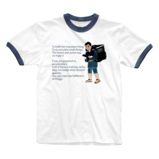 Uber金次郎 Ringer T-shirts