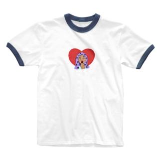 恋するぼっこは宇宙人👽 Ringer T-shirts