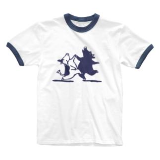踊り牛 Ringer T-shirts