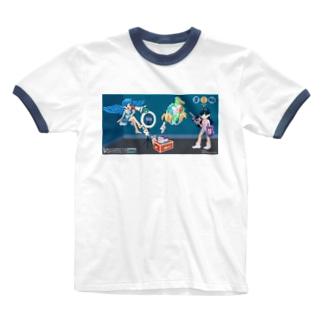 SNS vs おうち時間 Ringer T-shirts