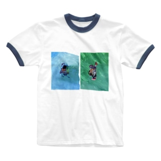 ひと と いろ Ringer T-shirts